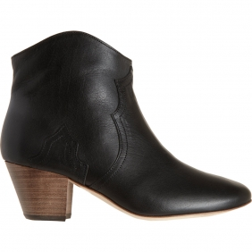 ISABEL-MARANT-Dicker-Black-Leather-Ankle-Boot-1